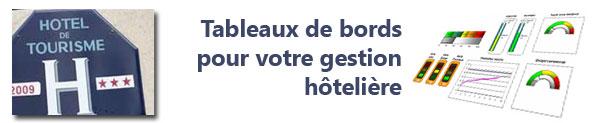 Formation Etablir un tableau de bord d'un hôtel restaurant « Concevez un tableau de bord efficace d'aide à la décision pour la gestion votre hôtel restaurant »